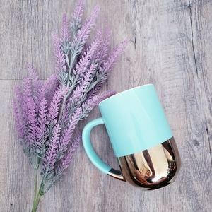 DAVIDS TEA | Frosted Green Gold Dipped Nordic Mug